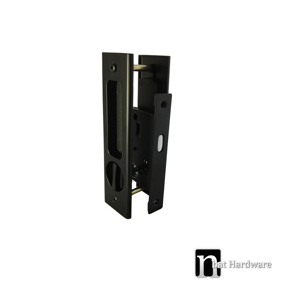 Matt Black Sliding Door Privacy Handle Set Nbat Hardware