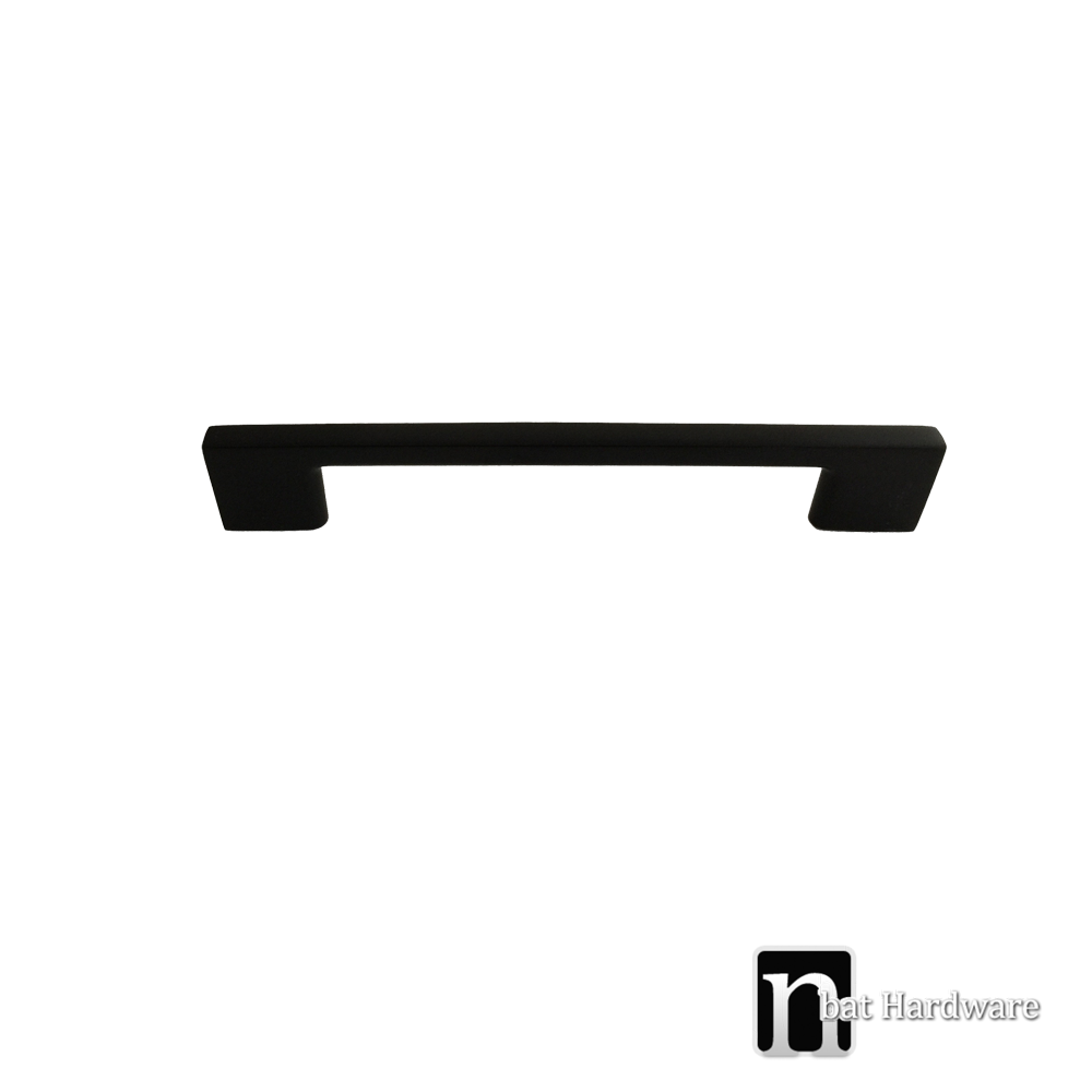 160mm matt black kitchen handles nbat hardware