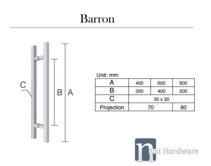 Barron entry door pull