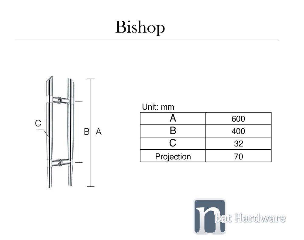 Bishop door pull handle