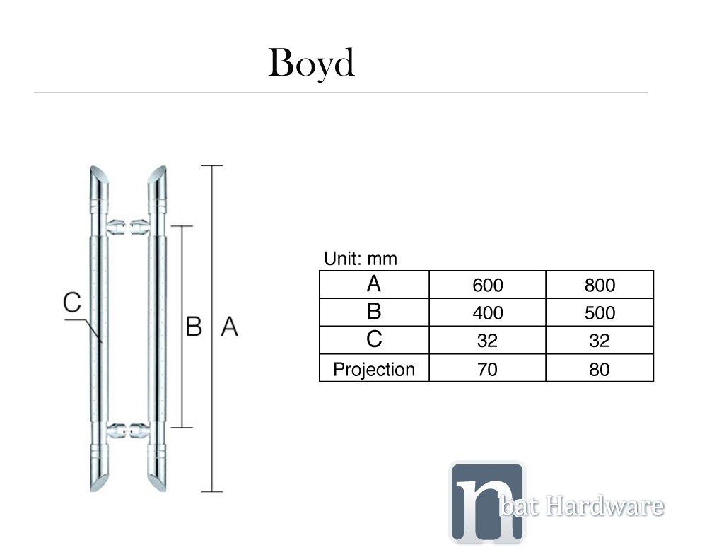 Boyd door pull handle