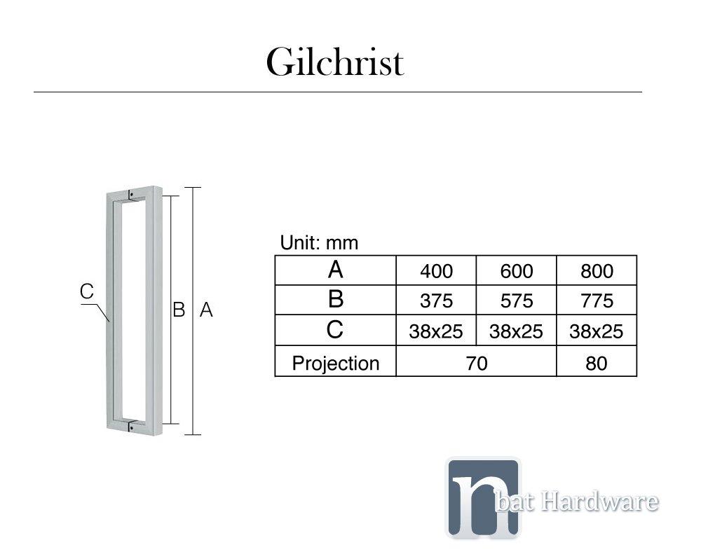 Gilchrist door pull handle