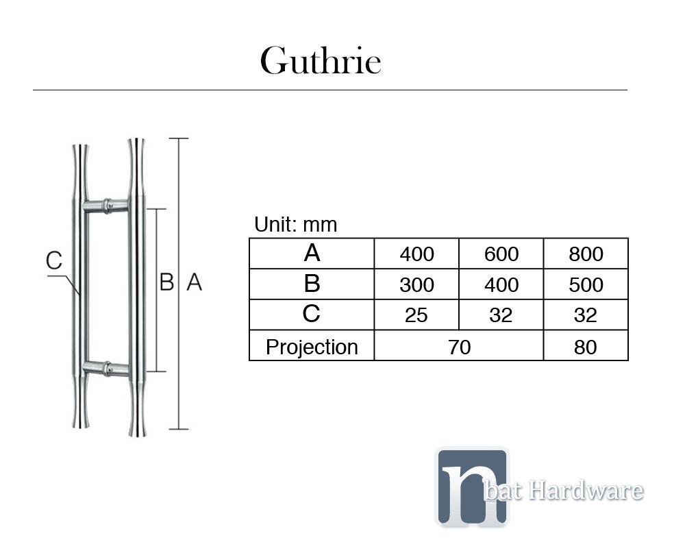Guthrie entry door pull handle