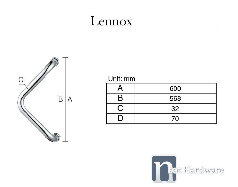 Lennox Door Pull Handle