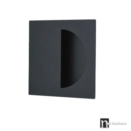 Matt black square flush pull