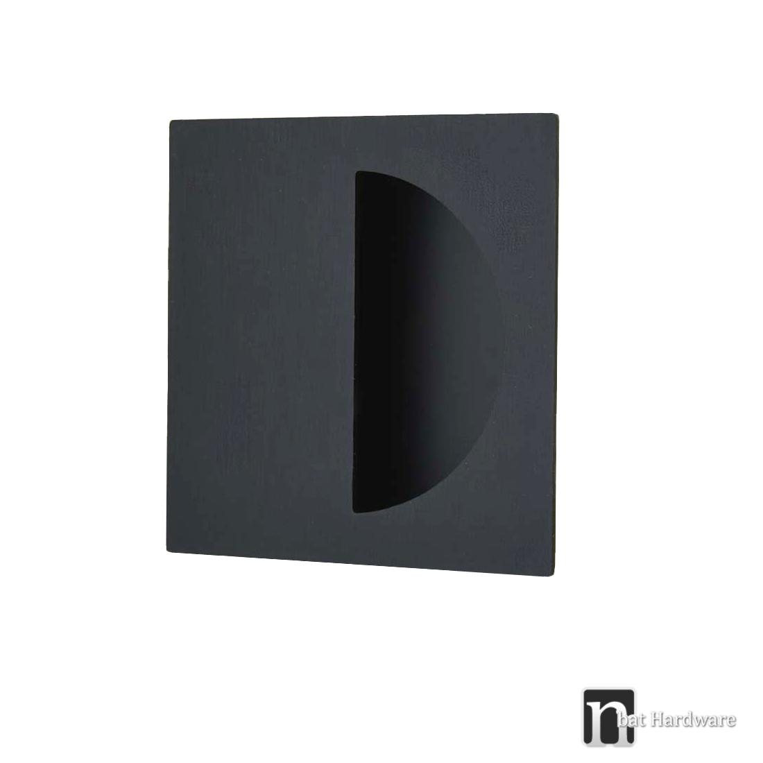 Matt black finish square flush pull 1146 sliding door for Flush door