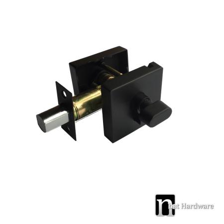 matt black square single cylinder deadbolt