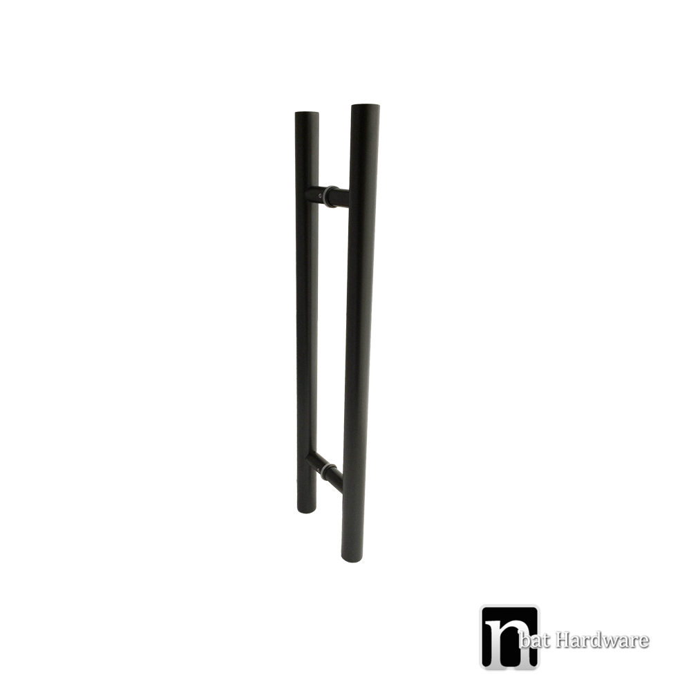 Matt Black Entry Door Pulls 800mm Bisset Nbat Hardware