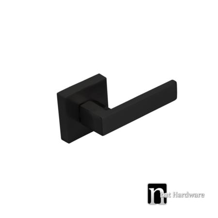 square matt black door dummy handle