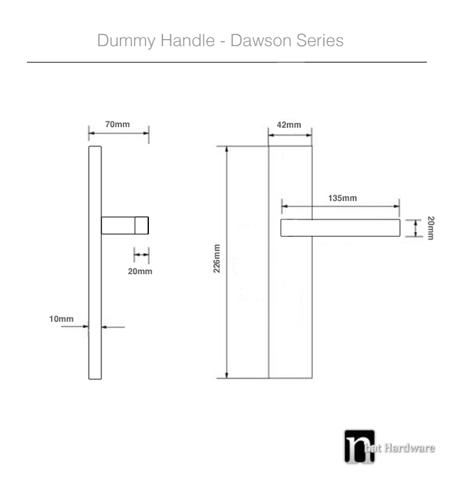 dawson dummy handle drawing