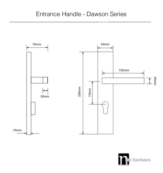 dawson entrance handle drawing