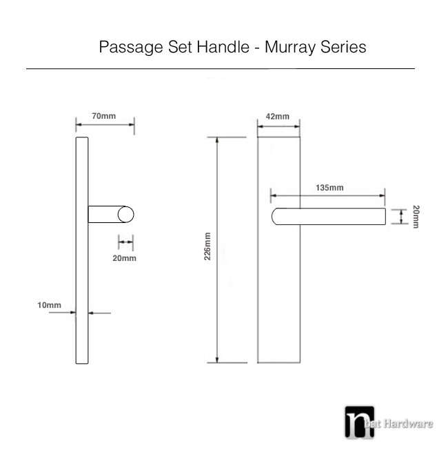 murray passage handle drawing