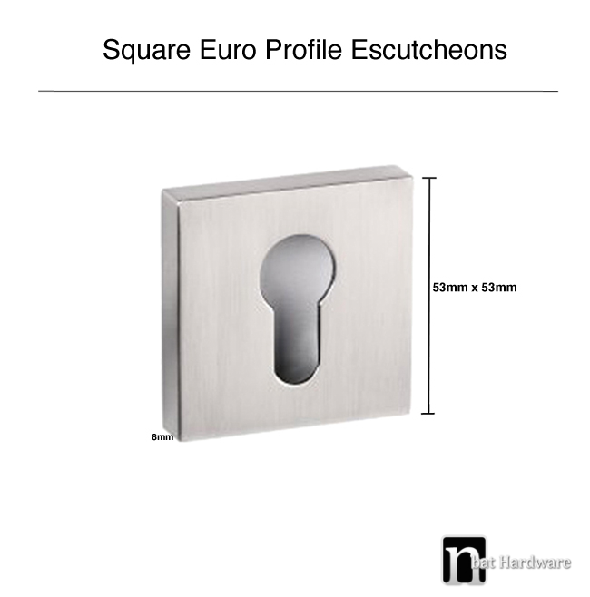 square escutcheons drawing