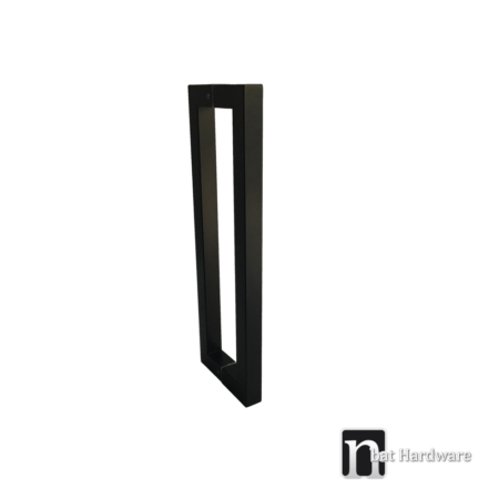 400mm square matt black door pull