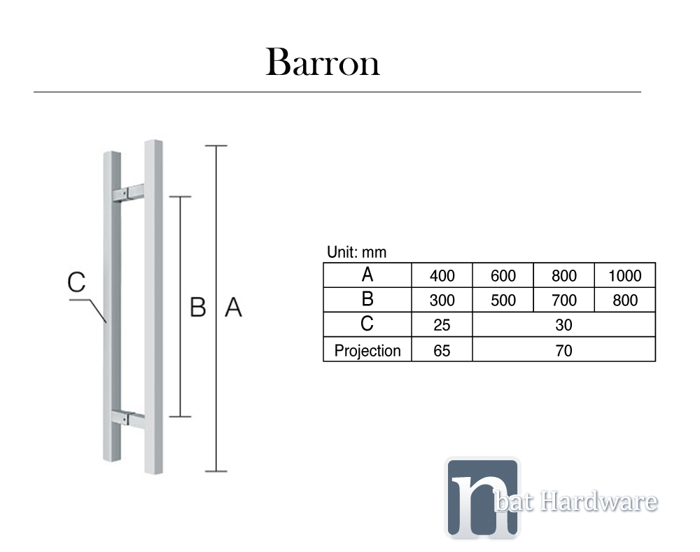 Barron entry door pull new