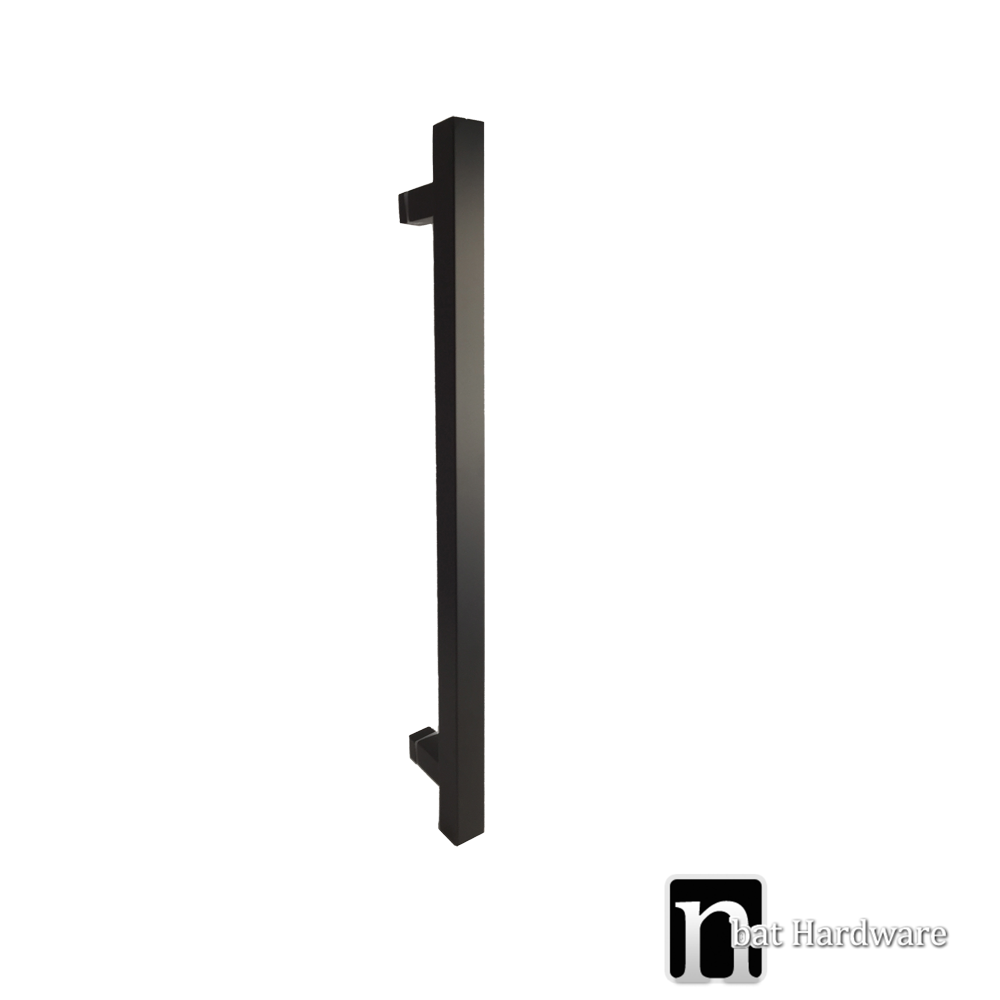 Single Matt Black 400mm Entry Door Pull Nbat Hardware