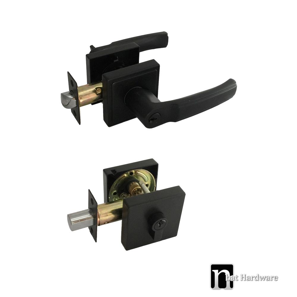 Matt Black Square Entry Combination Locks Nbat Hardware