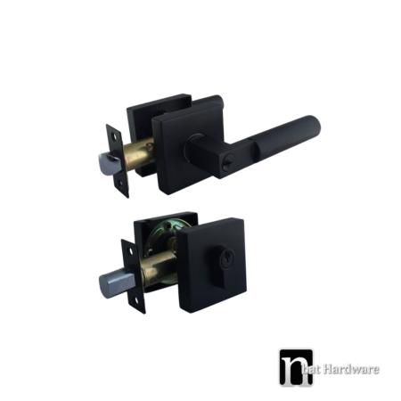 4222-black-entrance-with-deadbolt-lock-set