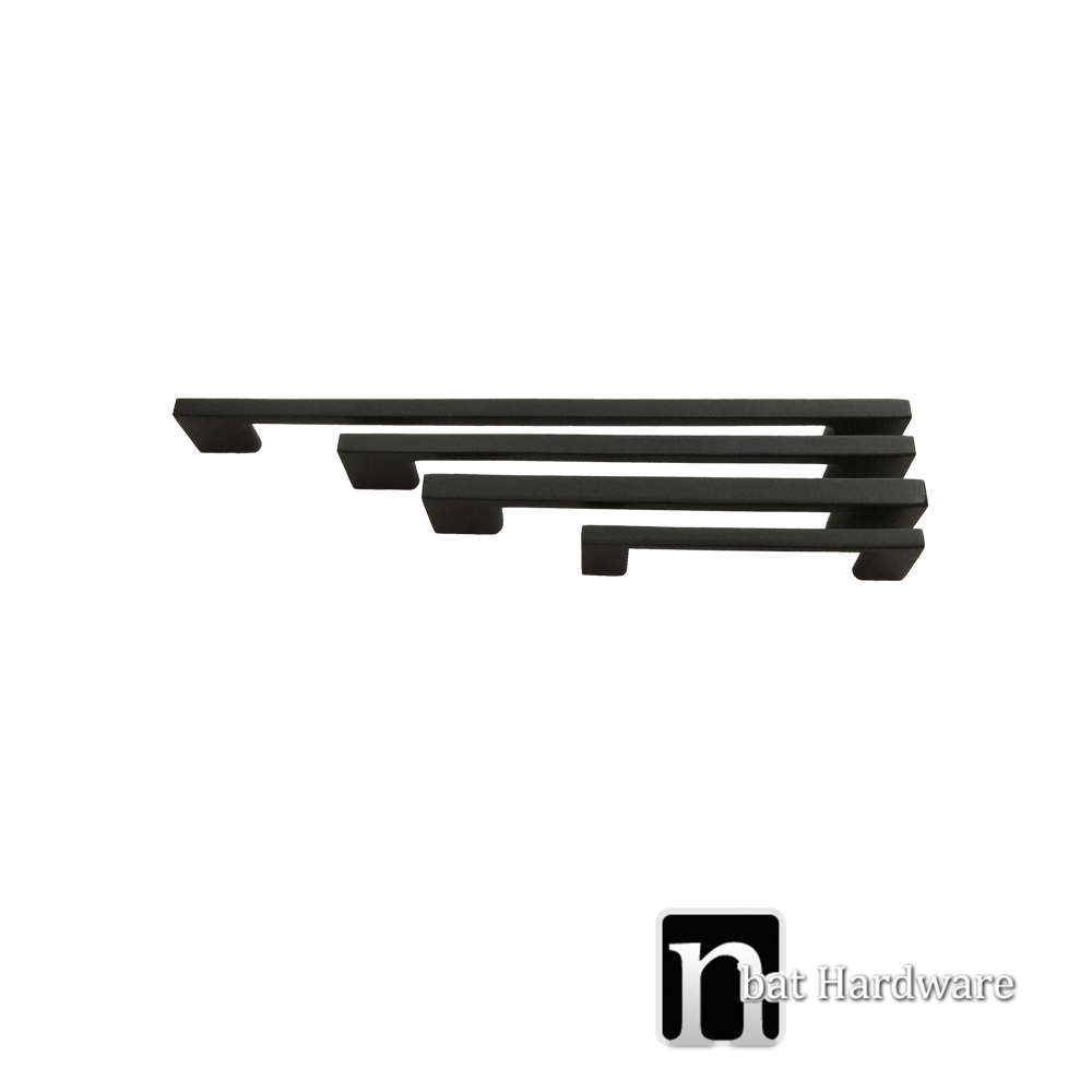 160mm Matt Black kitchen Handles | nBat Hardware