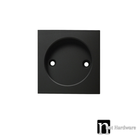 black single square flush pull