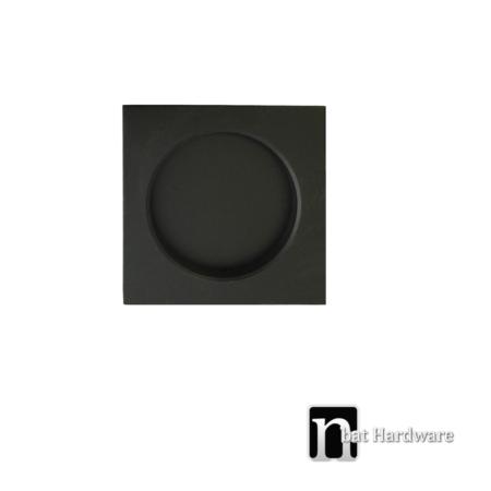 black square flush pull