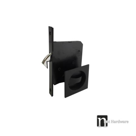 black square sliding door privacy set