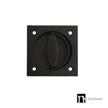 black square flush pull with a ring