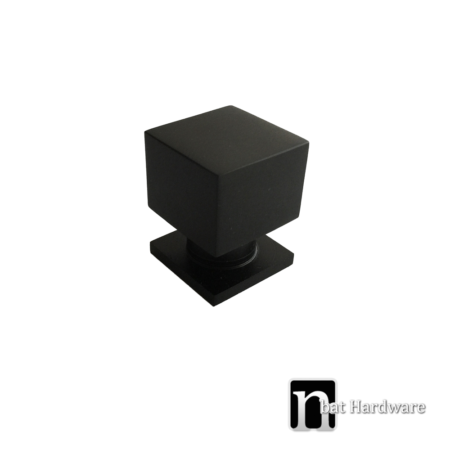 matt black square kitchen knob