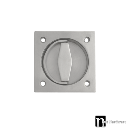 square flush pull with a ring
