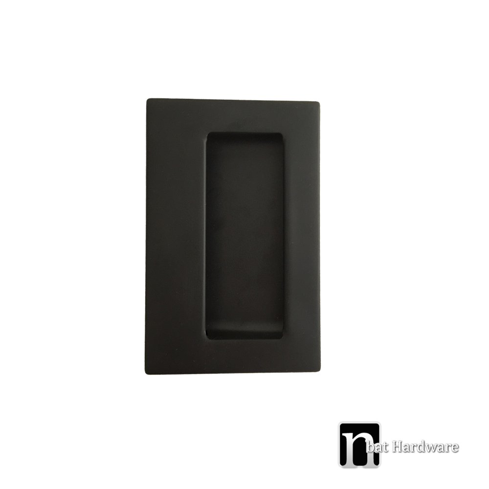 Matt Black Sliding Door Flush Pull Nbat Hardware