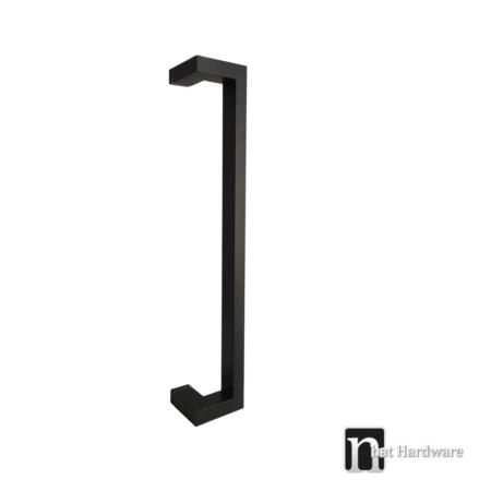 black u shaped single door pull