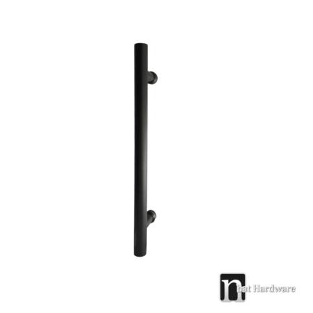 single round shaped black door pull