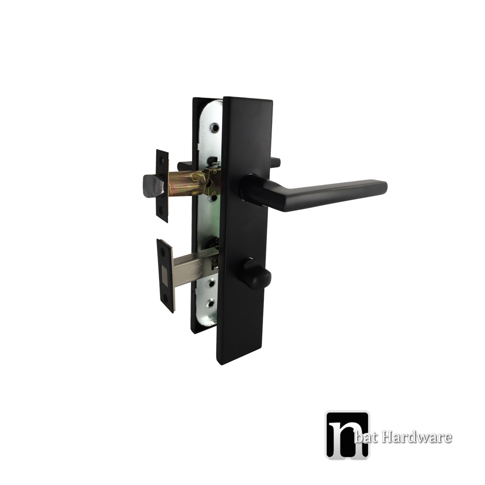 Matt Black Privacy Handle Set Bargo Series Nbat Hardware