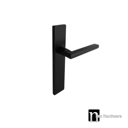 black dummy handle with rectangular face plate