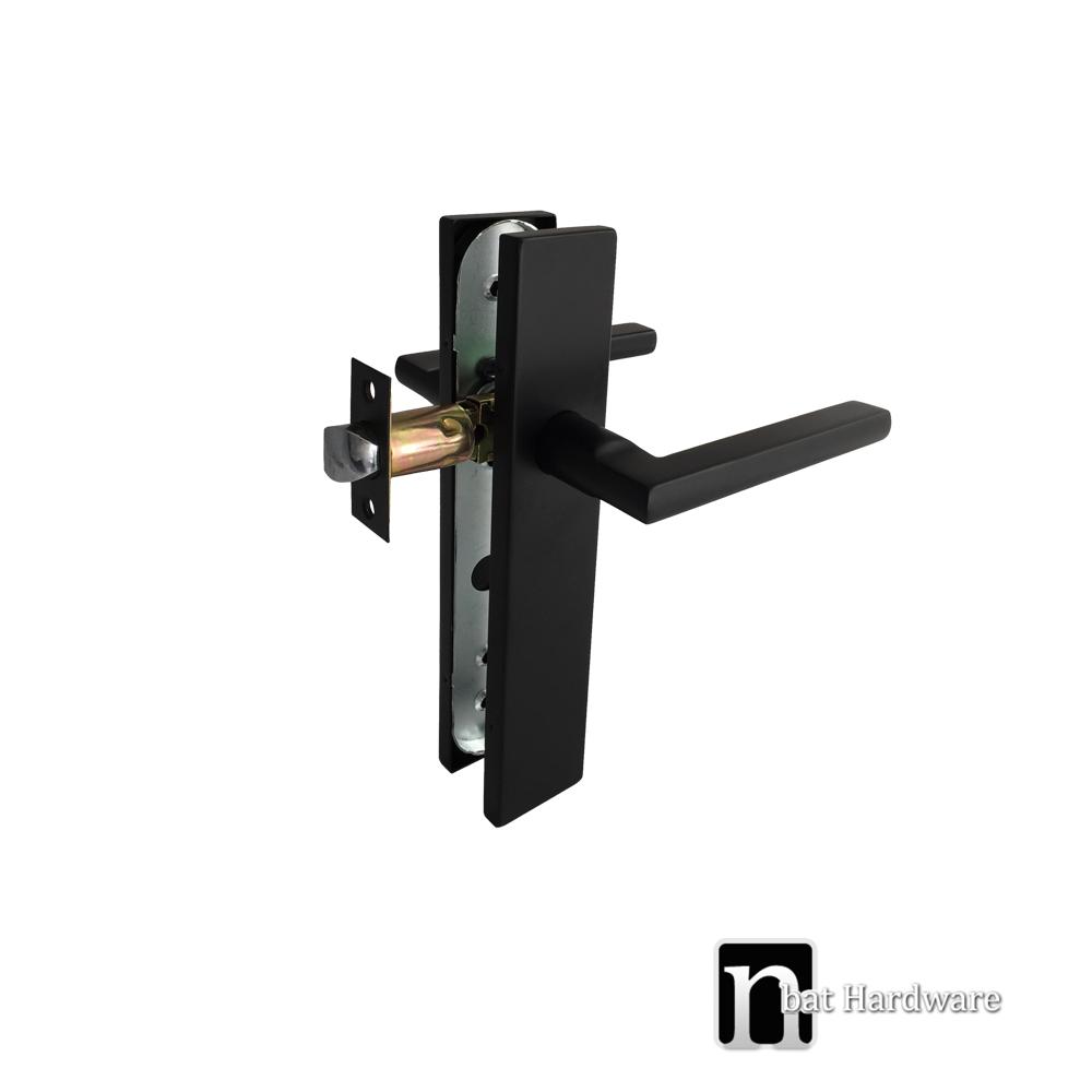 Matt Black Passage Handle Set Bargo Series Nbat Hardware