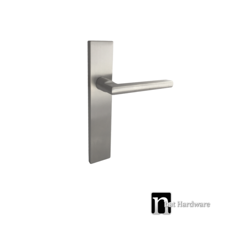 passage handle with long rectangular face plate