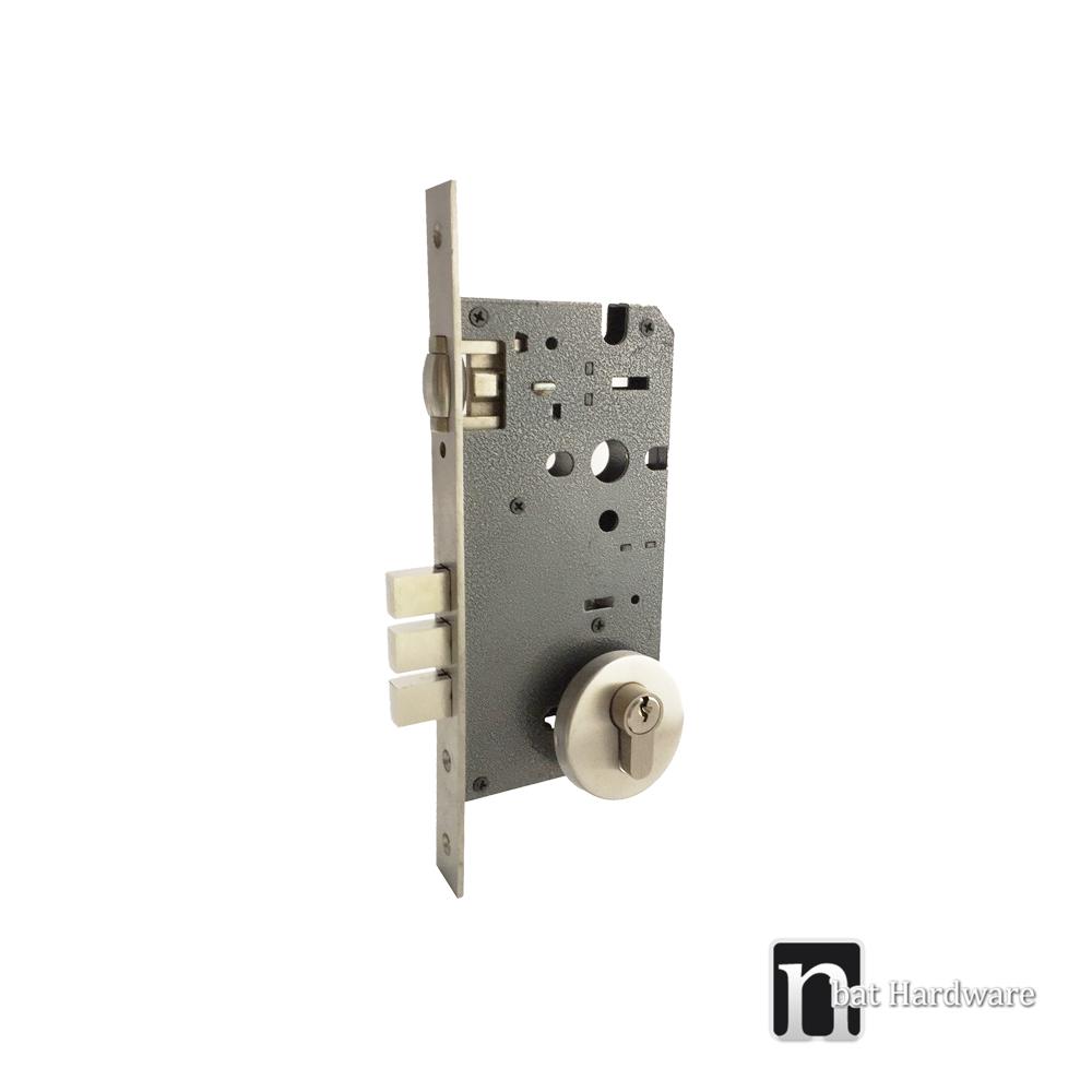 Round Plated Adjustable Roller Mortice Lock Nbat Hardware