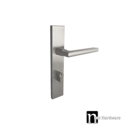stainless steel entrance handle with long rectangular face plat