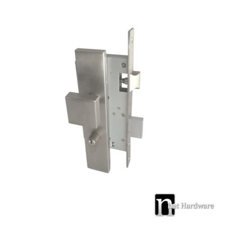 stainless steel square knob mortice lock