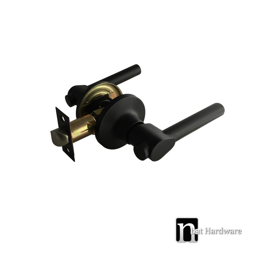 Piper Series Matt Black Passage Handle Set Nbat Hardware