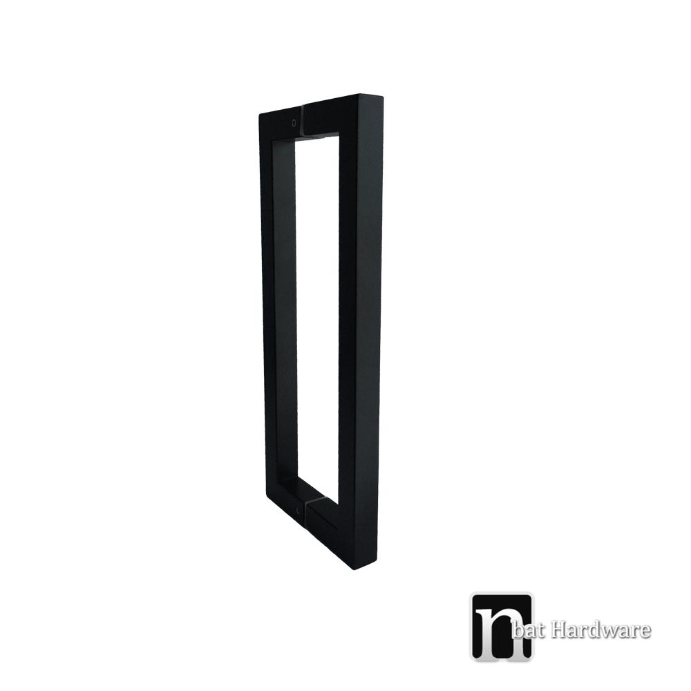 300mm Matt Black Entry Door Pulls Nbat Hardware