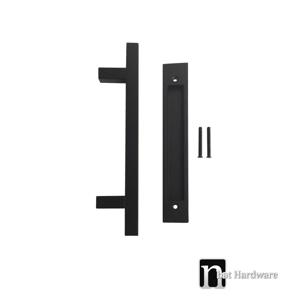 Matt Black Barn Door Flush Pull Handles Nbat Hardware