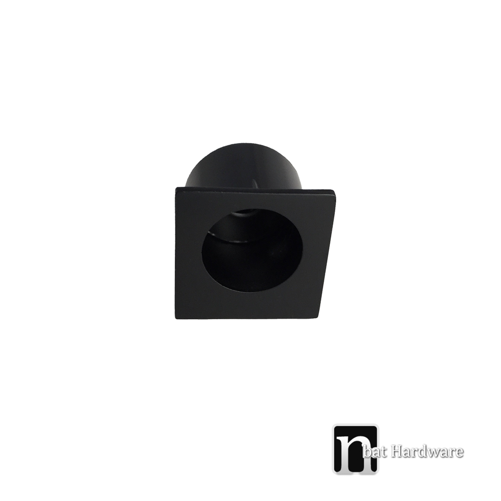 Matt Black Square Sliding Door Finger Pull Nbat Hardware