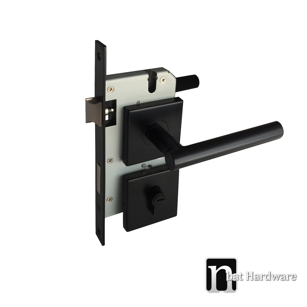 Matt Black Entrance Lock Set Smith Series Nbat Hardware